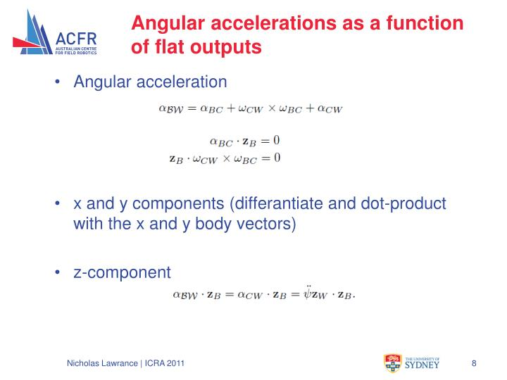Angular accelerations as