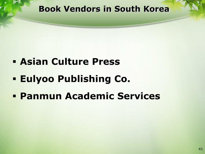 Book Vendors in South Korea