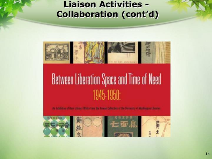 Liaison Activities -
