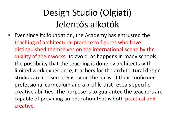 Design Studio (Olgiati)