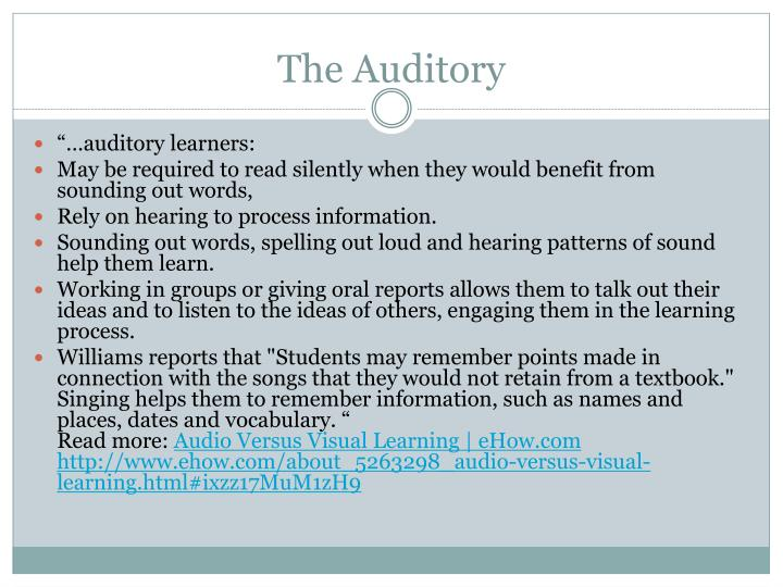 The Auditory