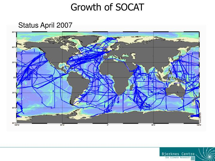 Growth of SOCAT