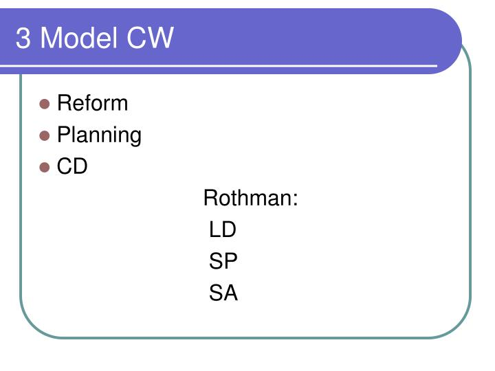 3 Model CW