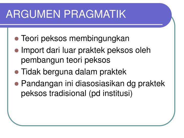 ARGUMEN PRAGMATIK