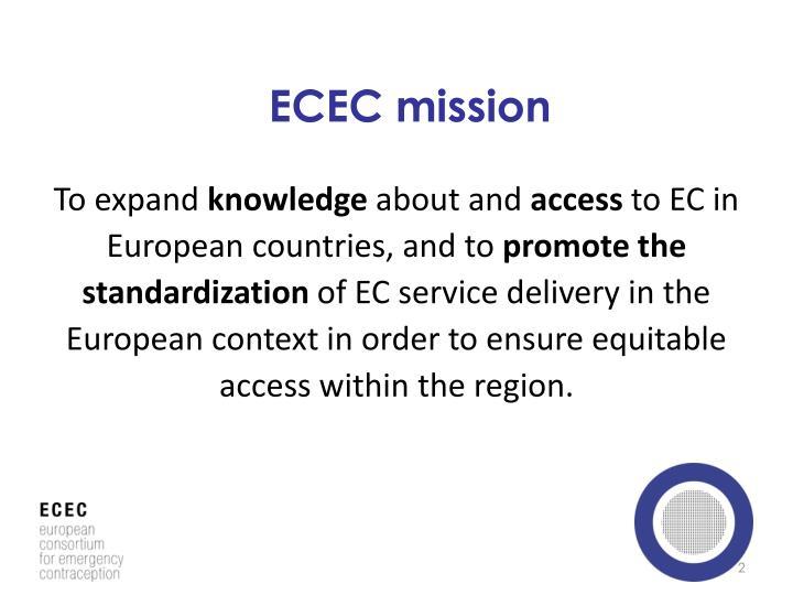 ECEC mission