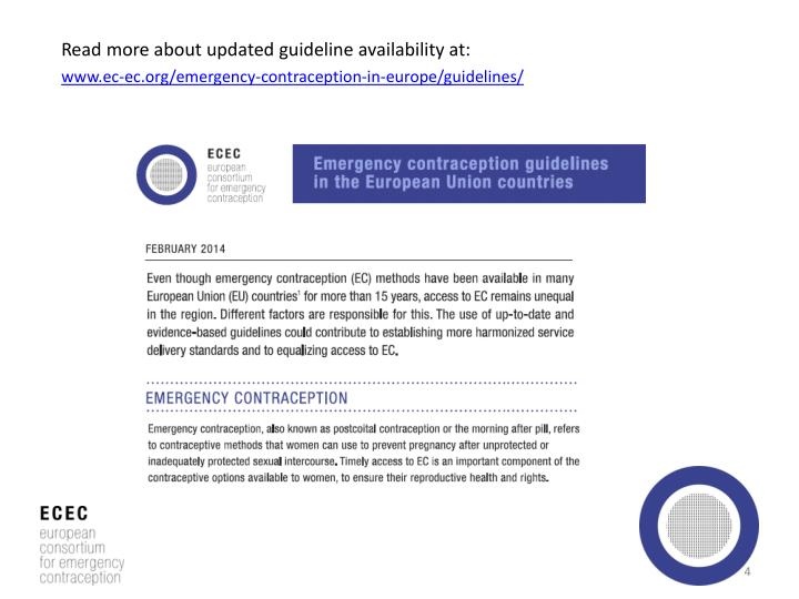 Read more about updated guideline availability at: