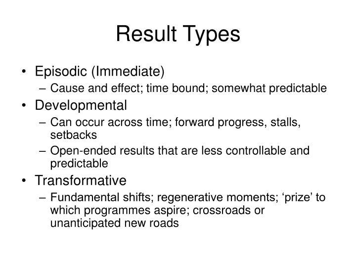 Result Types