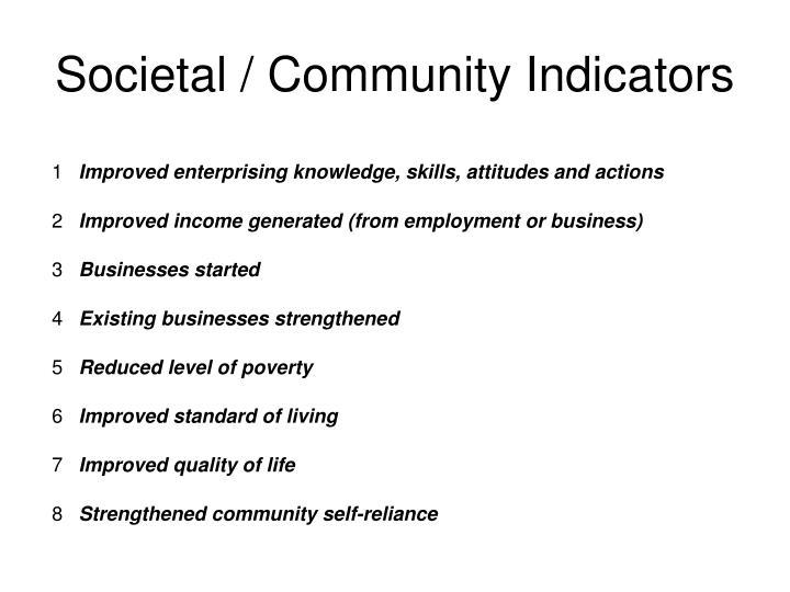 Societal / Community Indicators
