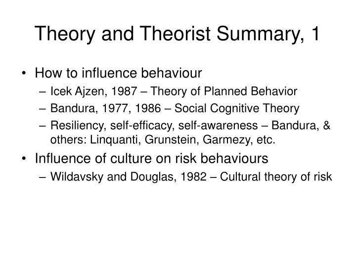 Theory and Theorist Summary, 1