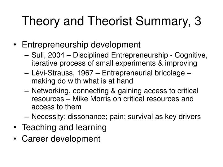 Theory and Theorist Summary, 3