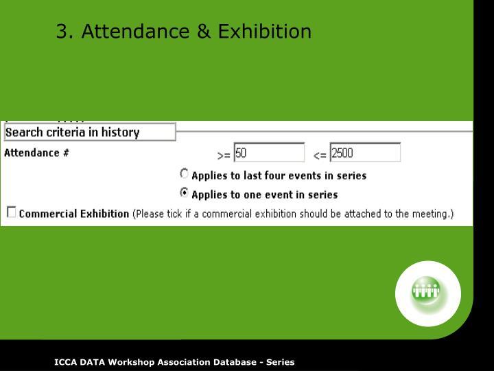 3. Attendance & Exhibition