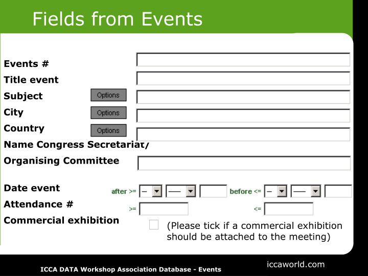Fields from Events
