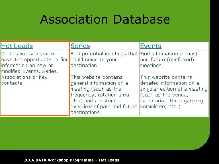 Association Database