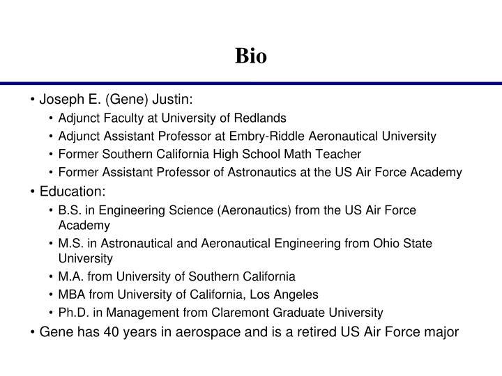 Joseph E. (Gene) Justin:
