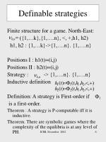 definable strategies