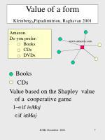 value of a form kleinberg papadimitriou raghavan 2001