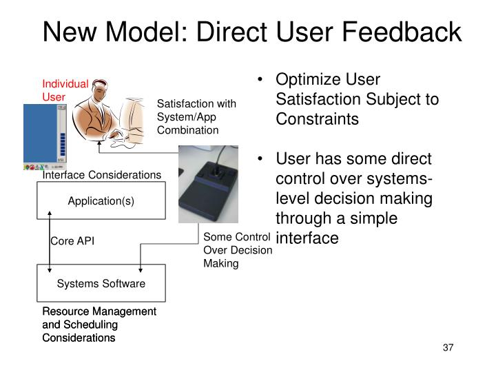 New Model: Direct User Feedback