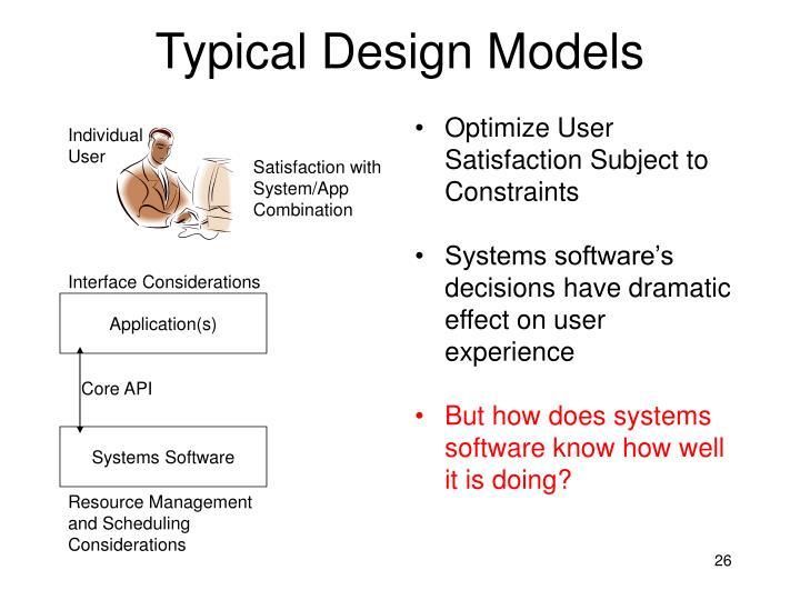 Typical Design Models