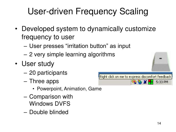 User-driven Frequency Scaling