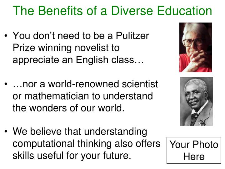 The Benefits of a Diverse Education