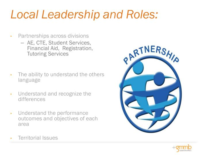 Local Leadership and Roles: