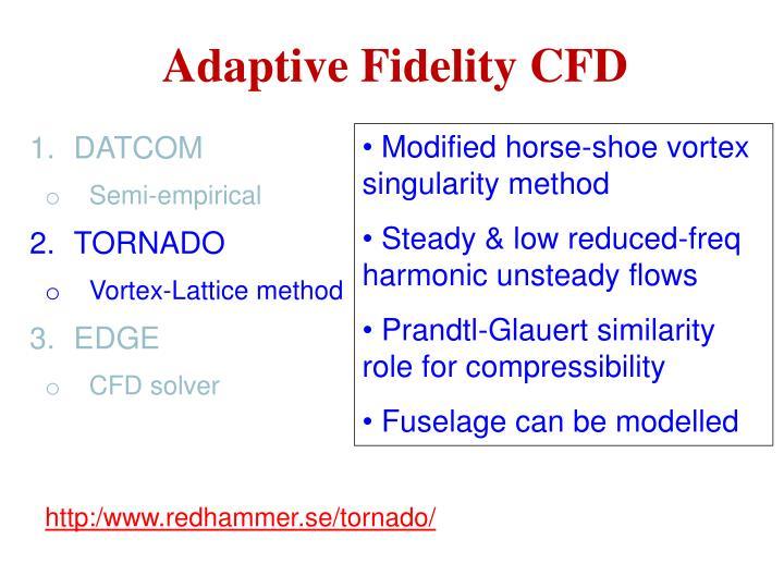 Adaptive Fidelity CFD