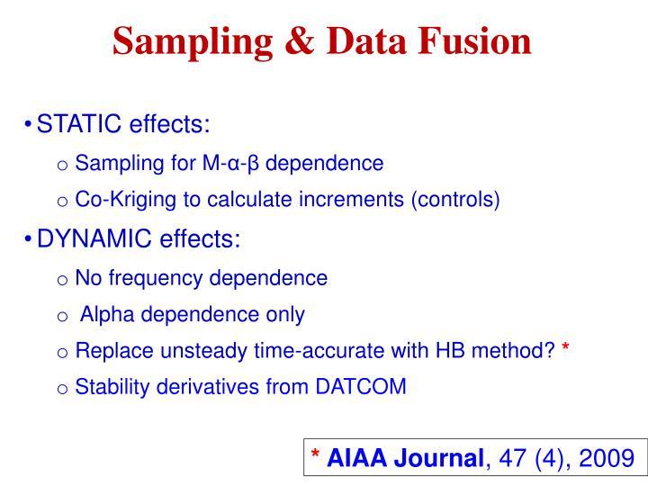 Sampling & Data Fusion