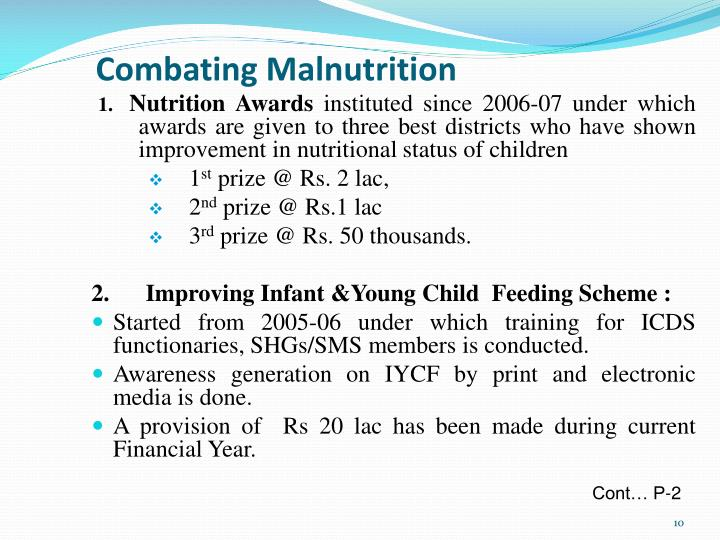 Combating Malnutrition
