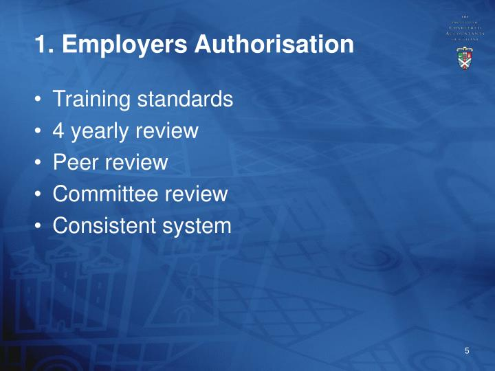 1. Employers Authorisation