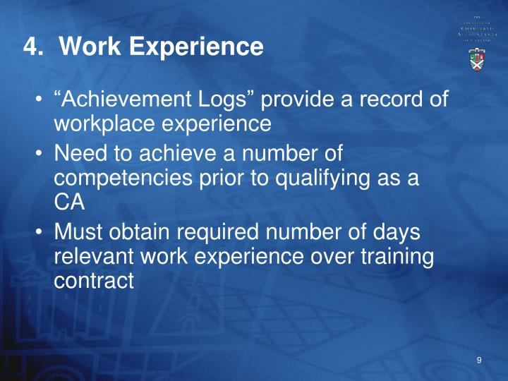 4.  Work Experience