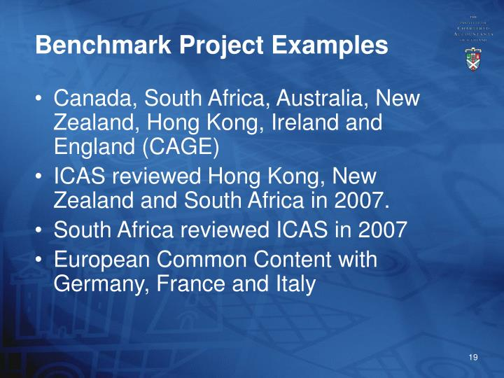 Benchmark Project Examples