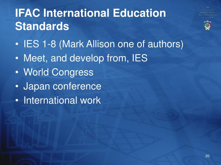 IFAC International Education Standards