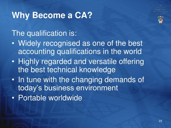 Why Become a CA?