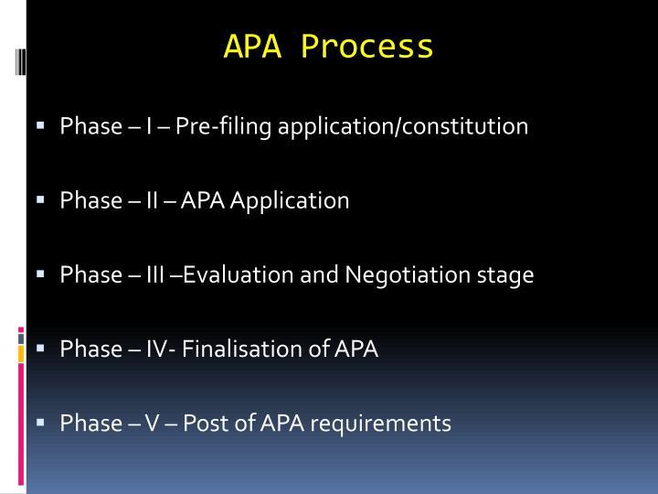 APA Process