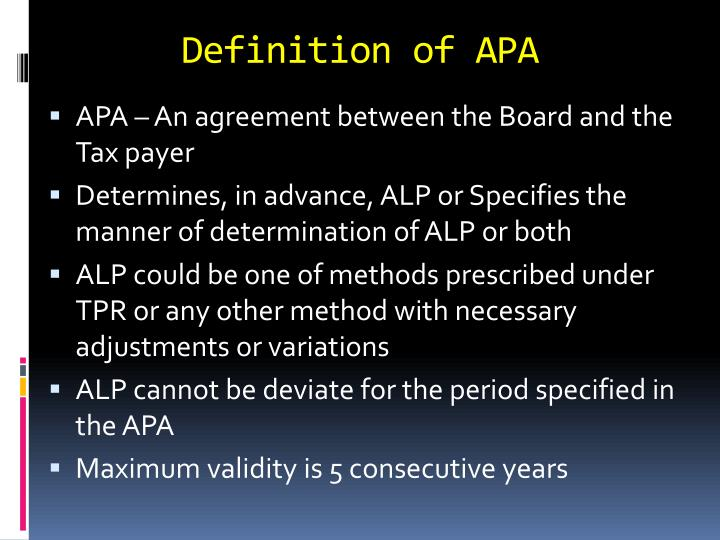 Definition of APA