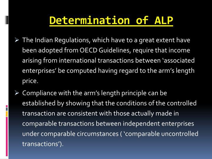 Determination of ALP