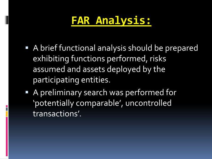 FAR Analysis: