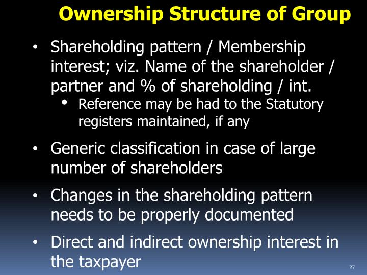 Ownership Structure of Group