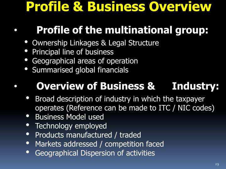 Profile & Business Overview