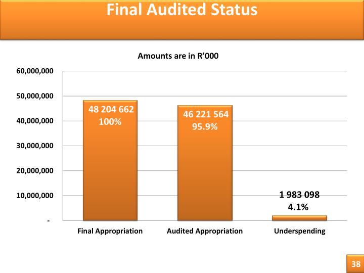 Final Audited Status