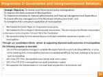 programme 3 governance and intergovernmental relations