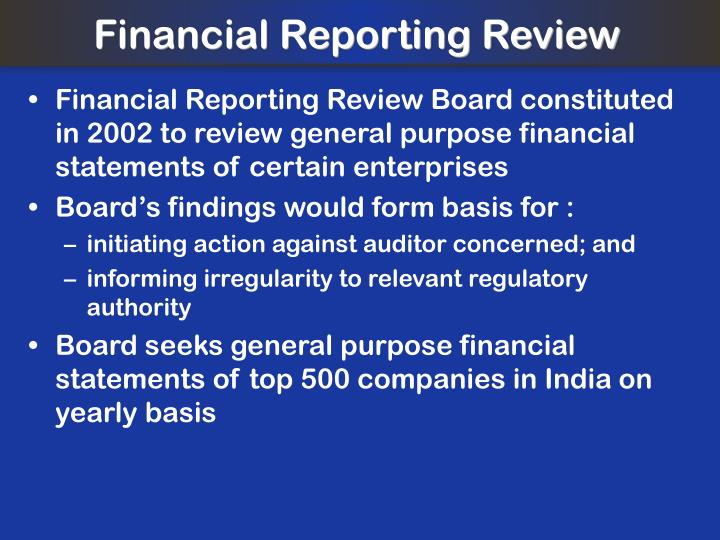 Financial Reporting Review