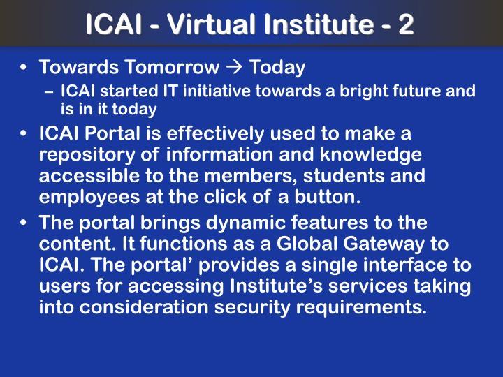 ICAI - Virtual Institute - 2