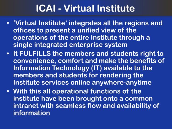 ICAI - Virtual Institute