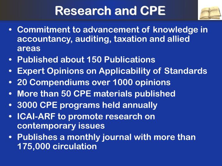 Research and CPE