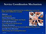 service coordination mechanism