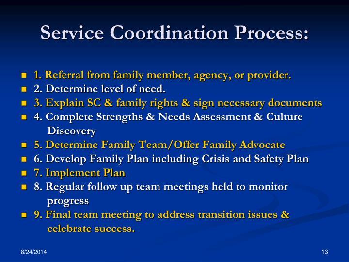 Service Coordination Process:
