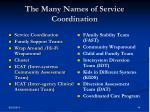 the many names of service coordination