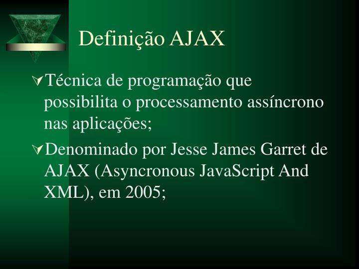 Definição AJAX