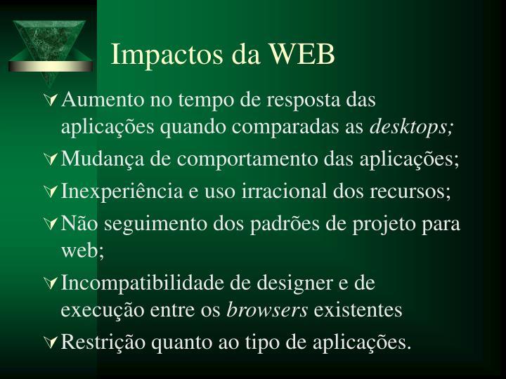 Impactos da WEB